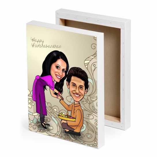 Caricature Canvas - Rakhi Gifts