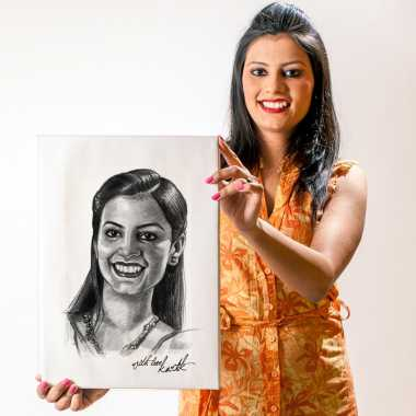 Personalized Pencil Sketch - Her - Canvas