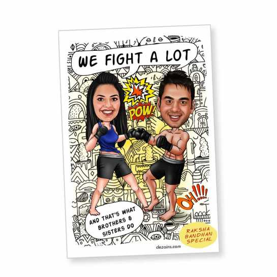 We Fight A Lot - Caricature Magnet