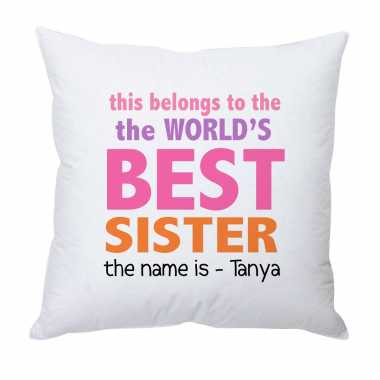 World's Best Sister - Personalized Cushion