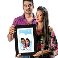 On Cloud 9 - Caricature Photo Frame
