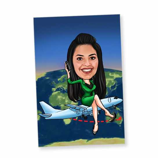 Around The World - Caricature Fridge Magnet