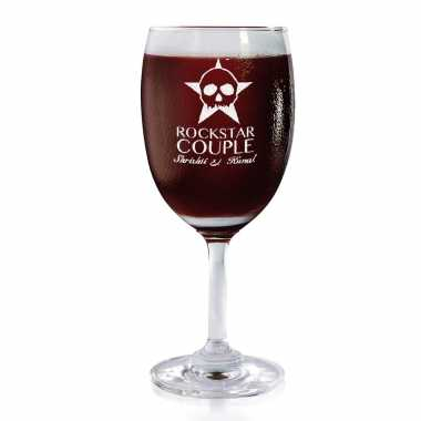 Rockstar Couple - Wine Glasses