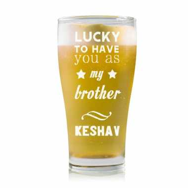 Lucky To Have You Brother - Stylish Beer Mug