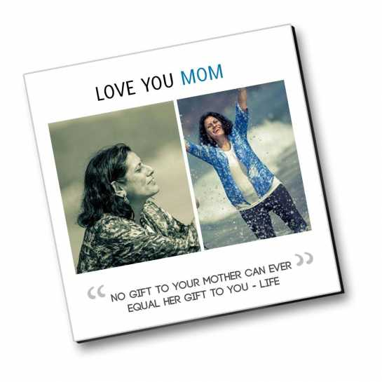 Luv You Mom - Personalized Magnet