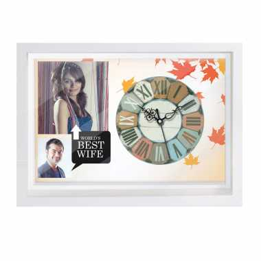 Personalized Photo Canvas Clock for Wife