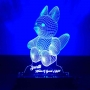 Teddy 3D illusion Night Lamp by dezains