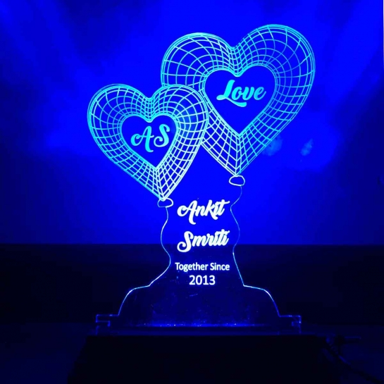 Blue Heart night lamp by dezains