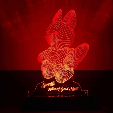 Red Teddy Night Lamp by dezains