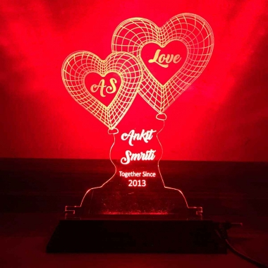 Red Heart Night lamp by dezains