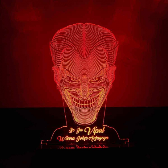 Joker Face Night Lamp by dezains