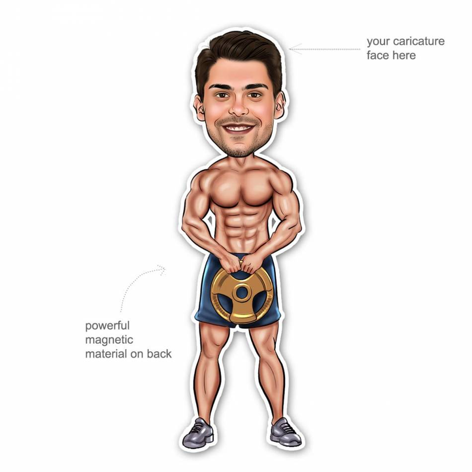 Buy Body builder Caricature Gift Set Online