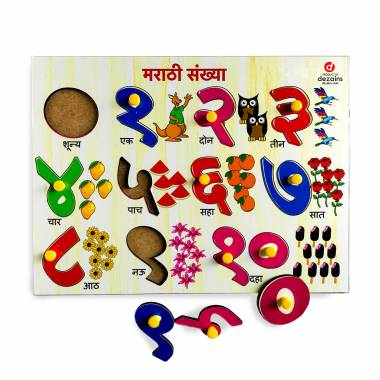 Big Marathi Numbers - Pin it up