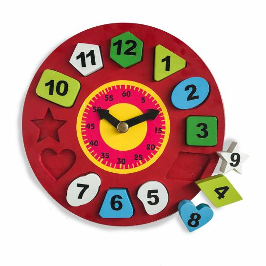 Big Toy Clock with Shape stack