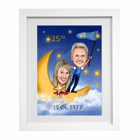 caricature frame for parents - personalised