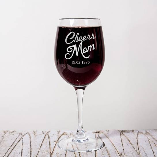 Cheers Dad Cheer Mom Wine Glasses with Date