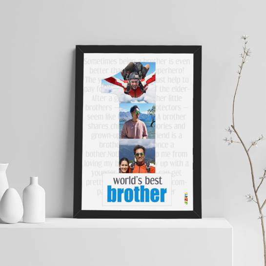 Worlds Best Brother 3 Photo Collage Photo frame for brother