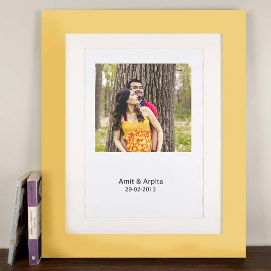 Phone Name and Date - Couple Wall Art Photo Frame