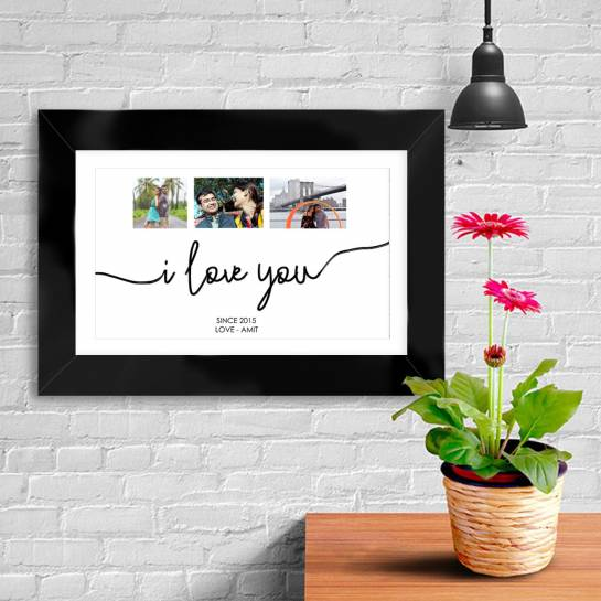 3 Photo Collage Wall Art for Couples