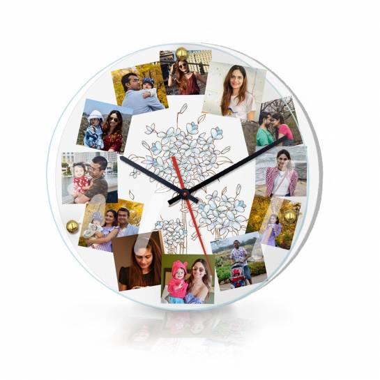 12 photo customised wall clock premium