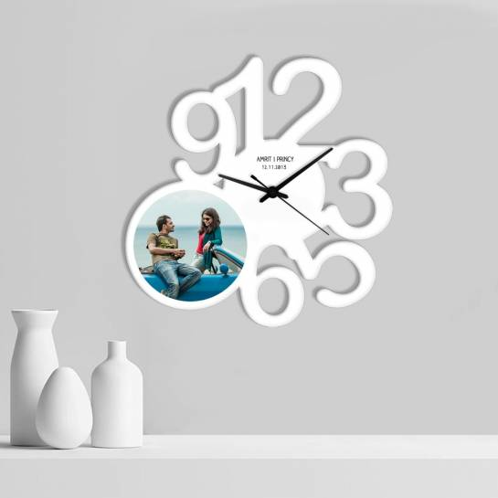 big numbers with photo designer wall clock