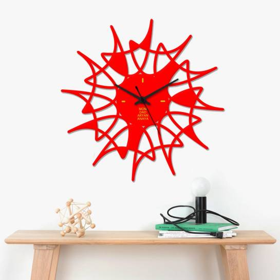 Creative Red Home decor wall clock