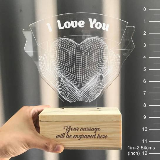 night lamp - i love you - personalised