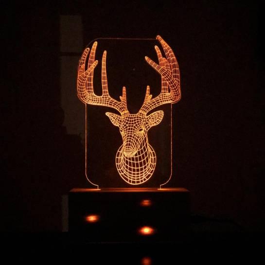 Night Lamp -Deer Face