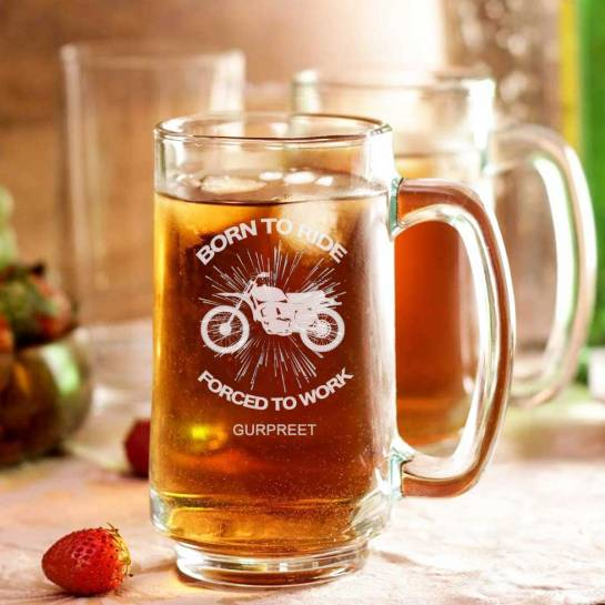 Beer Mug | Born to Ride |Customised