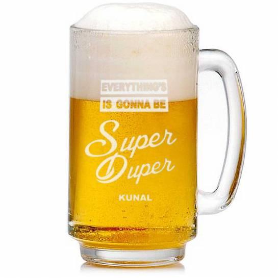 Beer Mug with Name - Super Duper