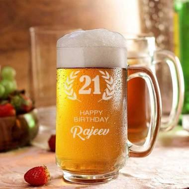 Birthday Beer Mug - Name and Age