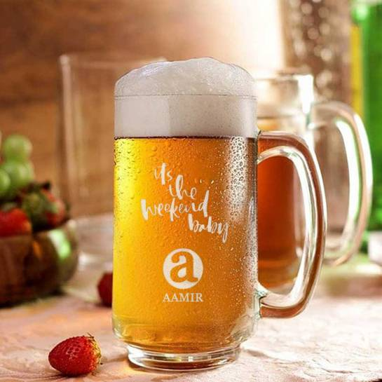 Weekend Special Beer Mug - Name and Initial