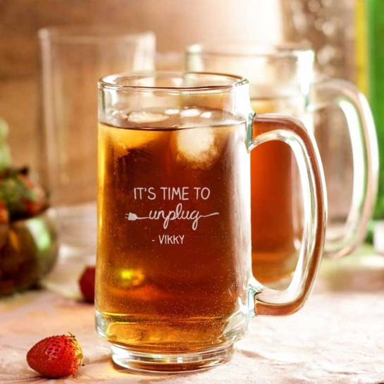 Beer Mug with Name - Unplug