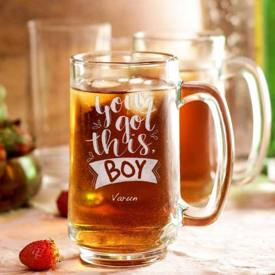 Beer Mug with Name - Boy