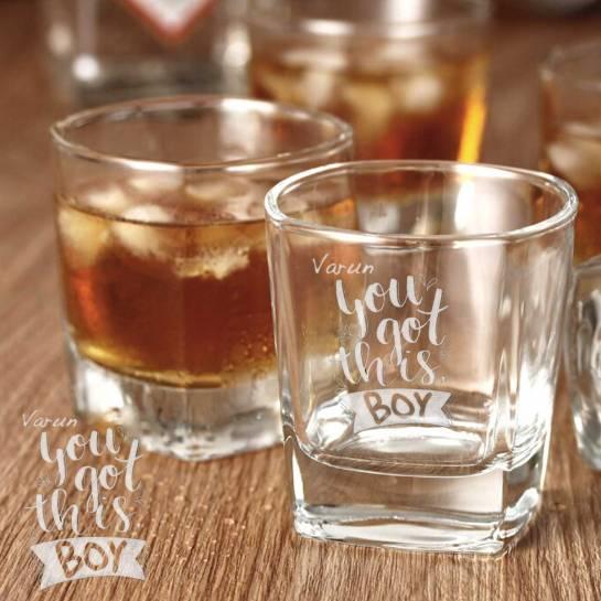 2 Whiskey Glasses - Motivational