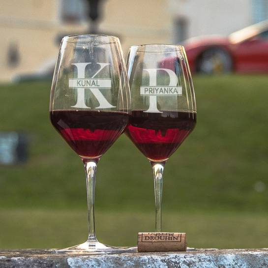 Name and Initial Wine Glass Set