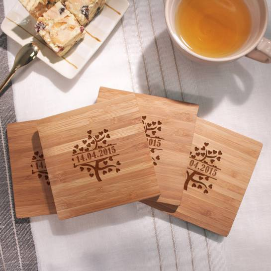 love tree coaster with date
