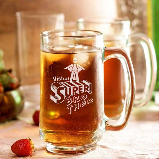 Super brother beer mug personalized