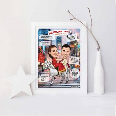 Caricature Poster - Love at Times Square