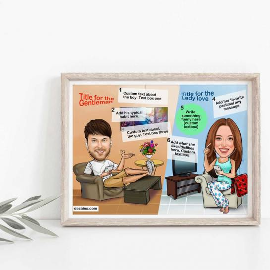 Caricature Poster - Long Distance Relationship