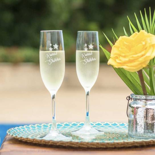 Champagne Glass with customized engravings