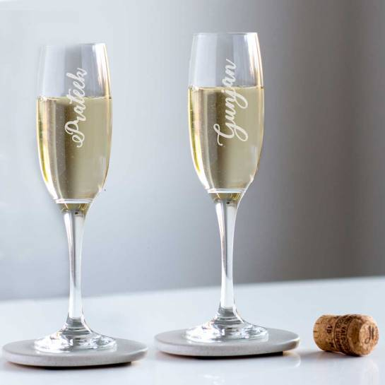 Champagne Glasses - Engraved