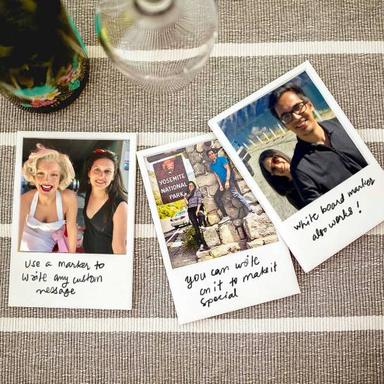 3 Polaroid Themed Fridge Magnets