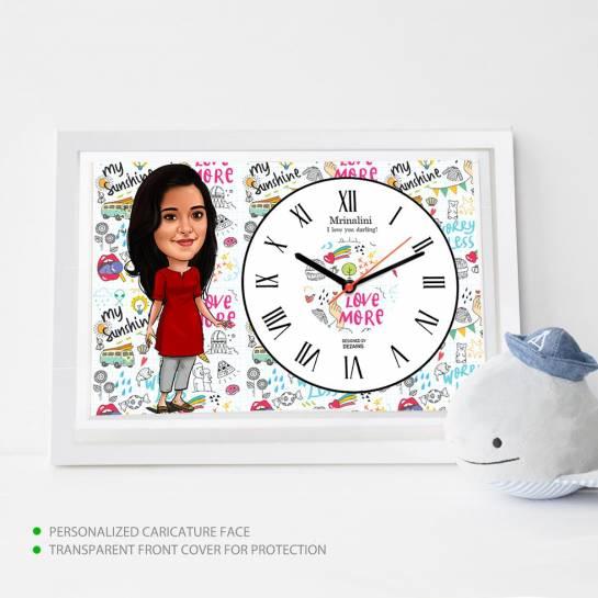 Caricature Wall Clock - My Sunshine