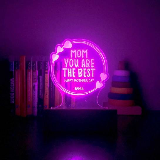 Personalized Night Lamp - Best Mom - Mothers Day Gift