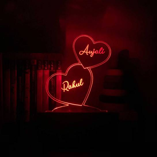 Buy Personalized Night Lamp with Couple Names