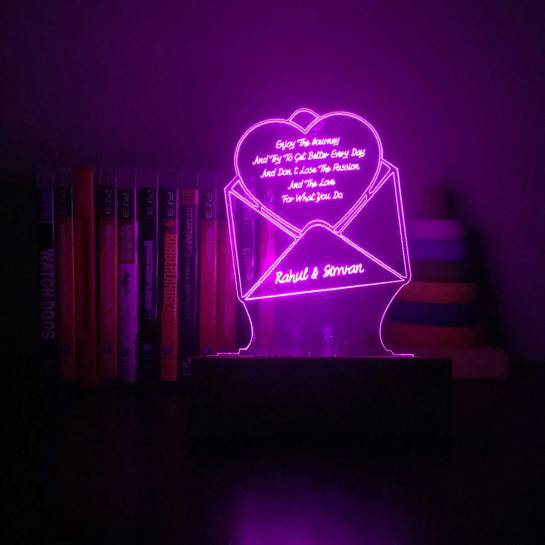 Love Letter Night Lamp by Dezains