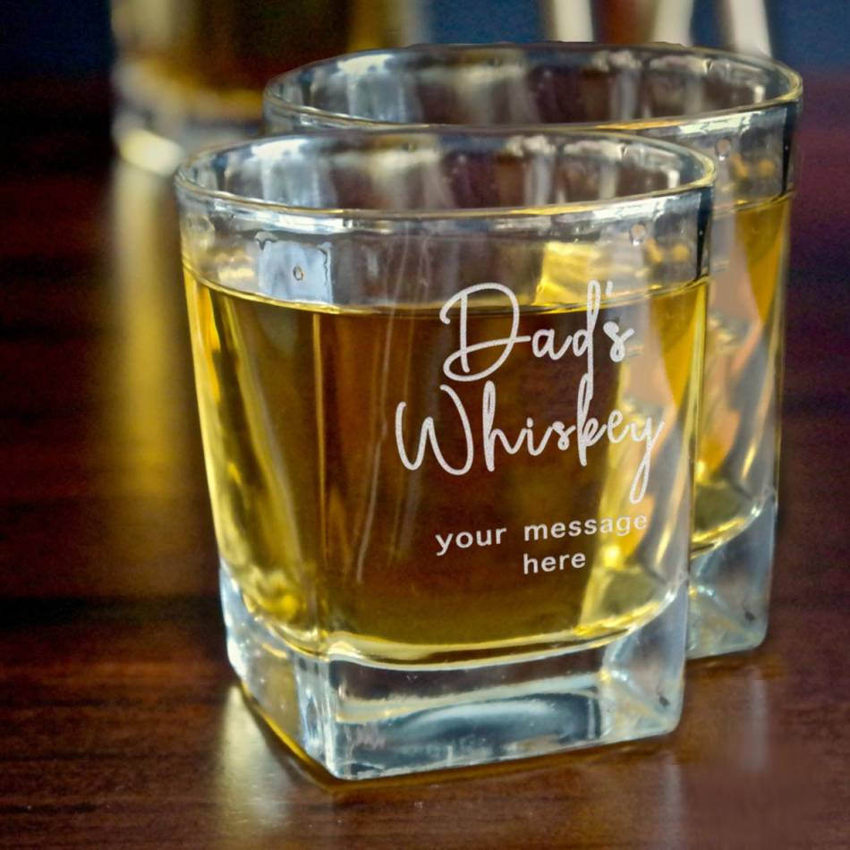 Personalised Engraved WHISKY GLASS FATHERS DAY BIRTHDAY DAD DADDY GIFT