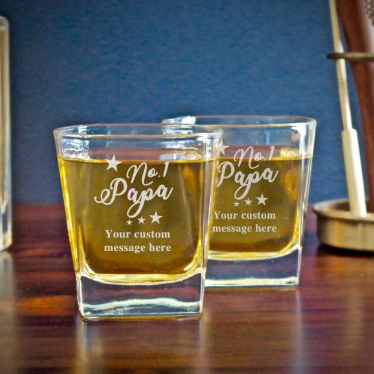 no 1 dad whiskey glass
