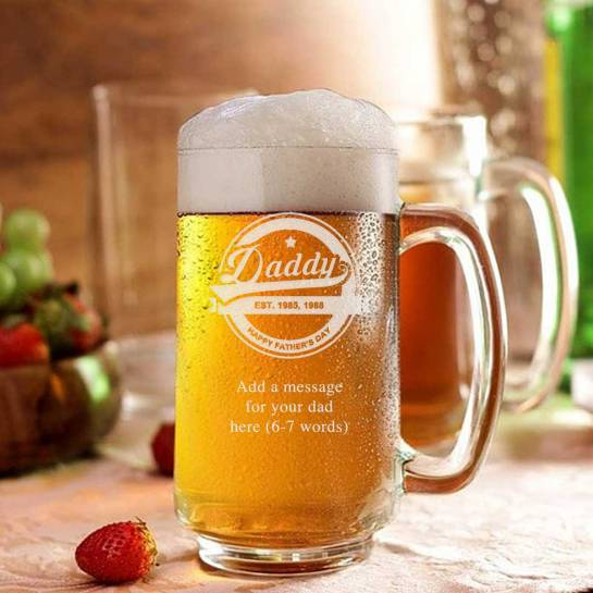 Daddy beer mug for dad on fathers day